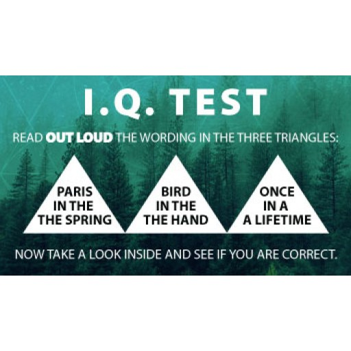 IQ test Triangles