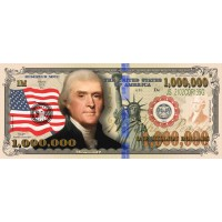 Patriotic Million Dollar Bill
