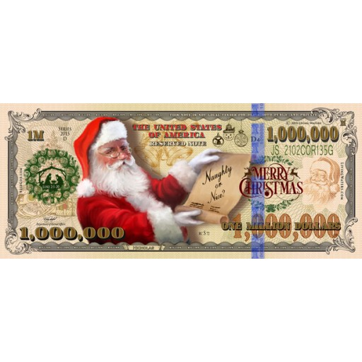 Christmas Million Dollar Bill